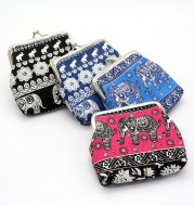 New national wind zero wallet canvas stamp coin package for lady elephant small wallet wholesale