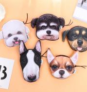 Korea creative Harajuku star Wang cloth purse Plush Dog change bag hand bagfan