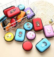 Direct selling new cute zero wallet cartoon earphone collector charger Box Coin handbag wholesale