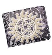 Spot Supernatural wickedness purse five star logo pattern for short money boys and girls' zero Purse