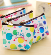 Korean version of creative gift bag happy bubble PU bag woman waterproof hand with coin bag to collect bag zero money bag