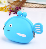 Manufacturers wholesale silica gel small fish bag, silica gel zero wallet silicone coin bag