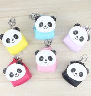 Panda series children cartoon zero wallet lady small bag key button coin bag small purse wholesale