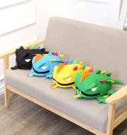 Small knapsack, Korean version of color fin lizard 3D stereoscopic children's book bag cartoon small dinosaur kindergarten book bag wholesale
