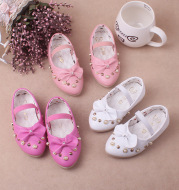 2020 autumn new baby single shoe Korean version of female baby shoes fashion pearl water drill wholesale