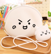 003 Korean cartoon creative zero purse lady silicone lovable wallet for children's coin zero purse wholesale