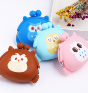 New cute mini - zero wallet owl, coin bag, cartoon silica gel handbag