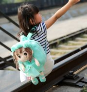 Little girl's bag cartoon adorable flower fairy Plush creative kindergarten baby baby backpack