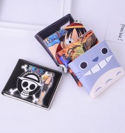 The new One Piece wallet Cute Cartoon Animation Short Student Wallet PU leather fabric patterned money