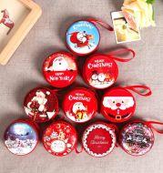 Factory direct Christmas Ornament Gift creative zero wallet Gift Santa Claus window ball