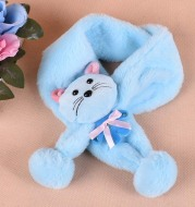 17 years of new cute cartoon tie with children scarves in autumn and winter girls' man made wool warm fashion with wool ball