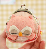 And the wind wings owl coin bag handbag buckle crepe with bottom ZB077 can receive customized Wallet