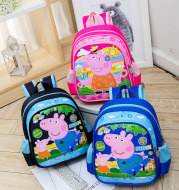 Cartoon cute baby baby baby backpack boy bag boys and Girls Mini double shoulder bag 1-3 years old