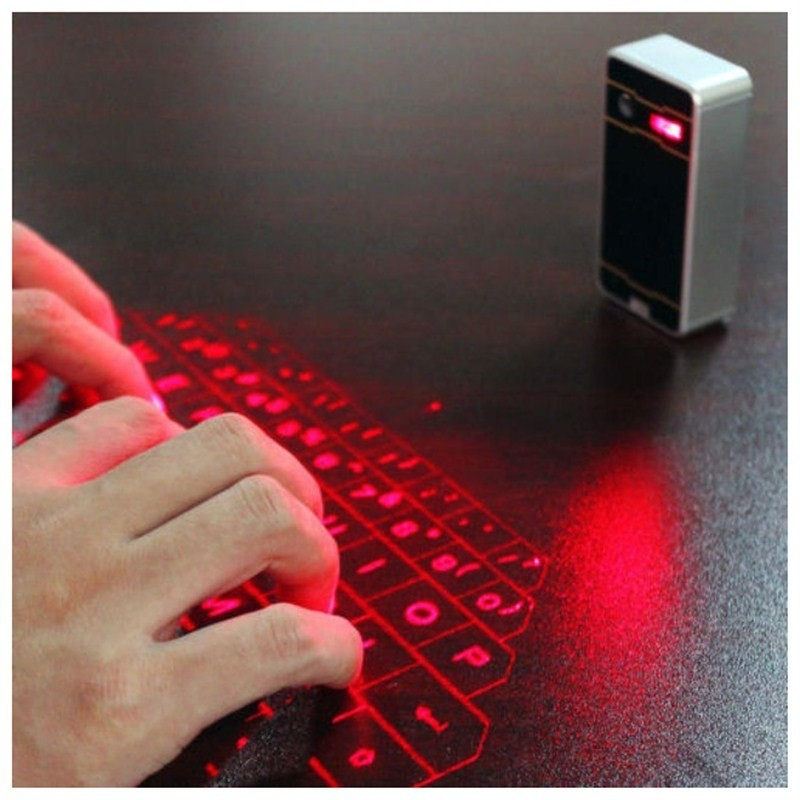 Person - Bluetooth Wireless Laser Keyboard