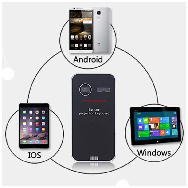 Mobile Phone - Bluetooth Wireless Laser Keyboard
