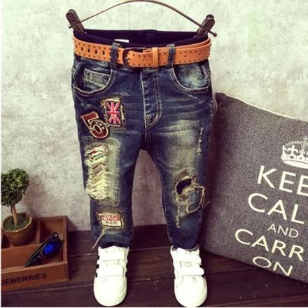 Hippe kinder jeans voor jongens - inclusief riem