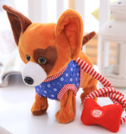 Children's electric plush toys and dogs simulation tidy intelligent lead rope dog will call the dog dog electronic pet puppy