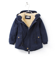 Foreign trade children's clothing 2021 winter new men with thick warm and warm even hat tuxtail windbreaker cold coat