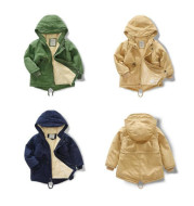 Children's coat coat 2021 new autumn and winter children's clothes coat coat thickening in the long length of leisure and cashmere