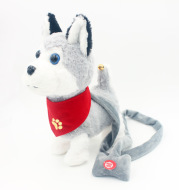 Children's electric toy dog, tedy, rope, small dog charging simulation wool will walk called run remote intelligent pet