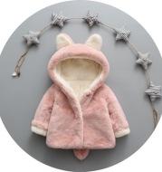 2021 autumn and winter new children's wear plus velvet thickening children's jacket small rabbit hair Korean version of the sweater one generation