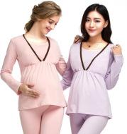 Enjoy the winter pregnant pregnant women pregnant women suit long johns lactation clothes suit feeding pajamas Home Furnishing confinement suit