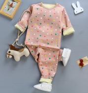 2021 winter children milk fiber thermal underwear sets new long johns baby baby Korean two piece