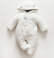 Baby clothes lamb winter cotton padded clothes baby newborn baby skin thickening climb Siamese clothes cotton