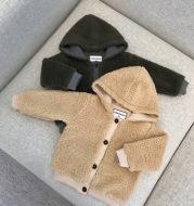 Plush baby coat