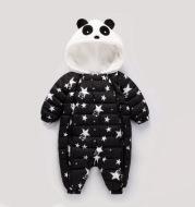 Lu Xuan winter cotton padded infant newborn children down clothing baby panda climb piece Romper thickening