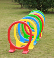 The kindergarten toy and the training equipment and plastic hurdle game children's outdoor sports circle holes