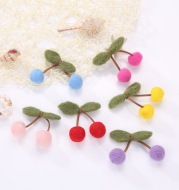 Girls cherry hairpin