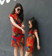 Cheongsam parent-child outfit