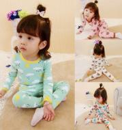 Children's clothing wholesale 2017 autumn new money girl cotton children's cotton underwear suit home clothes baby pajamas wholesale