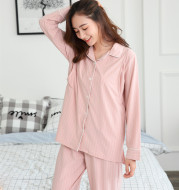 Real shot new month clothes long sleeve postpartum breastfeeding clothes pregnant women pajamas spring and autumn home clothes pregnant women suit