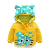 Direct sales of children's clothing wholesale winter money girl baby coat cartoon cotton coat thickened and cashmere girl coat winter