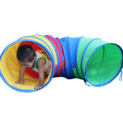 Children tent sunshine rainbow tunnel time crawling tube holes and the training equipment of infant baby toys