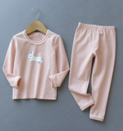 Girls' cotton Lycra underwear set two piece suit Home Furnishing children long johns pajamas in autumn and winter
