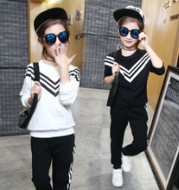 Girl children's fall suit 4, 6 year old children, 8-9 long sleeves, 11 clothes, 11 clothes, 5-7 years and two sets of spring and Autumn