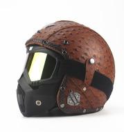 Handmade four seasons characteristic retro Halley helmet