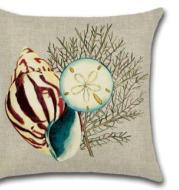 Cross-border special for the new Mediterranean Sea style blue sea Marine sailors conch octopus coral with pillow flax