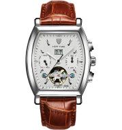 Hongkong tevise genuine brand Tourbillon watch multifunctional business waterproof automatic mechanical watches Mens Watch
