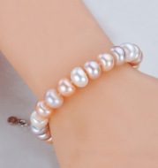 Mixed color pearl bracelet