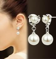Fringed diamond earrings