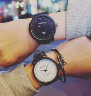 Korean matte belt with the wind tide table to Harajuku lovers watches Edison Chan student table trend of men and women