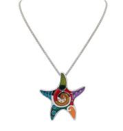 Drop oil color Sea Star Necklace