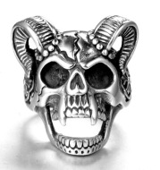 Stainless steel ring men's jewelry ring wholesale vintage sheep's head ring