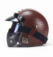 The four seasons retro helmet handmade Harley helmet