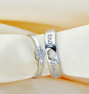 S925 sterling silver ring couple ring forever love engagement ring