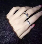 Wedding ring obviously with the same section plating platinum ring ring ring wedding engagement diamond ring